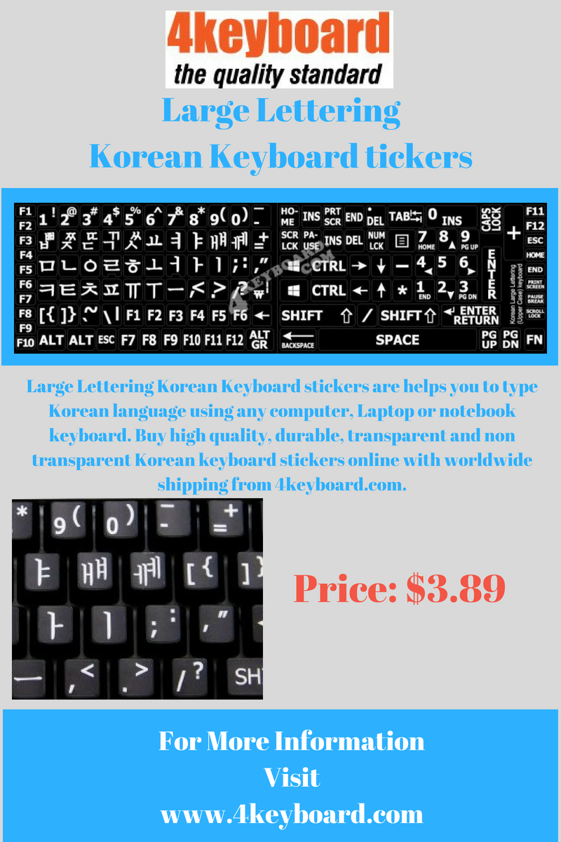 Korean Keyboard Stickers